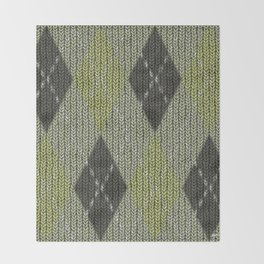 Cactus Garden Argyle 1 Throw Blanket