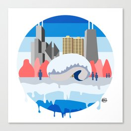 CHICAGO DRIPPING PLANET - CHICAGO FLAG EDITION Canvas Print