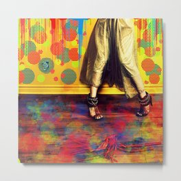 Painting Yourself in a Corner Metal Print