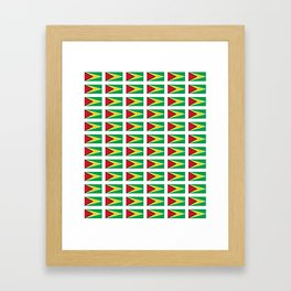 Flag of Guyana -Guyanese,Guyanes,Georgetown,Linden,Waiwai Framed Art Print
