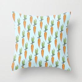 Darling carrot Throw Pillow