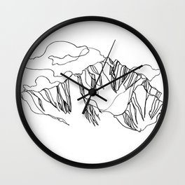 Blue Ridge :: Single Line Wall Clock