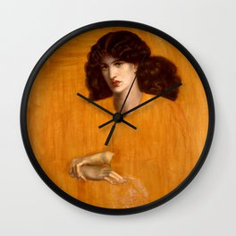 "Dante Gabriel Rossetti ""The Lady of Pity"" Wall Clock"
