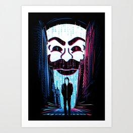 A One or a Zero Art Print
