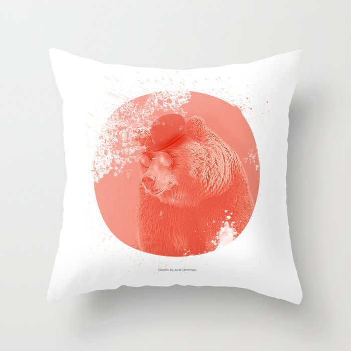 Stylish Bear Throw Pillow
