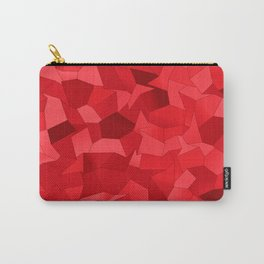 Geometric Shapes Fragments Pattern re Carry-All Pouch