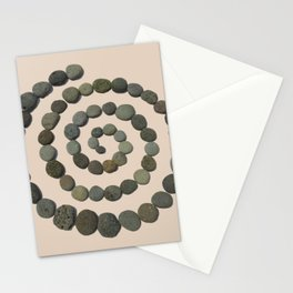 Square Pohaku: Lava Rock Labyrinth on the go Stationery Cards