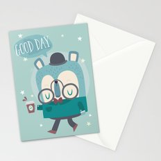 Snazzy Bear Says Good Day Stationery Cards