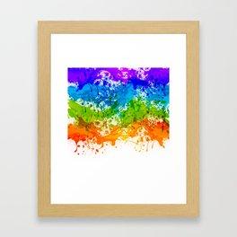 Colorful Splashes Framed Art Print