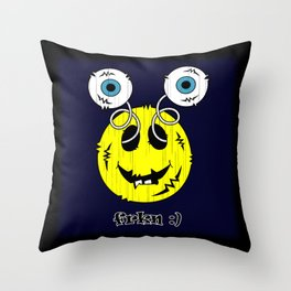 FREAKIN' SMILEY EMOTICON! Throw Pillow