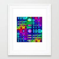 techno Framed Art Prints featuring TECHNO-SPOTZ by David  Gough
