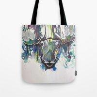 moose Tote Bags featuring Moose by Halfmoon Industries
