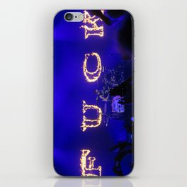 Cause I fell in love with a girl at the rock show iPhone Skin