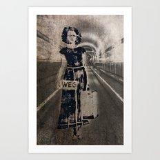 leaving it all behind Art Print