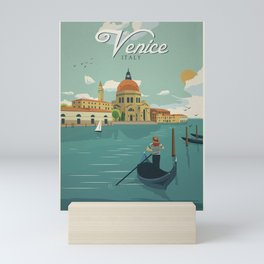 Vintage travel poster-Italy-Venice. Mini Art Print