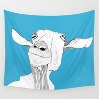goat Wall Tapestries featuring Goat by caseysplace
