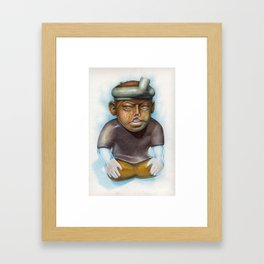 """Litholisp"" - Colored Pencil and Watercolor Framed Art Print"