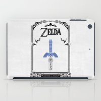 legend of zelda iPad Cases featuring Zelda legend - Sword by Art & Be