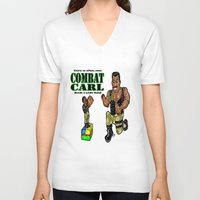 "pixar V-neck T-shirts featuring It's Combat Carl, From The Pixar/ABC/Disney ""Toy Story of Terror""!  Action Figures DO come ALIVE! by beetoons"