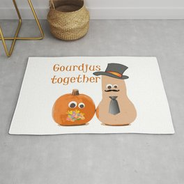 Gourdjus Together Cute Just Married Wedding Vector Rug