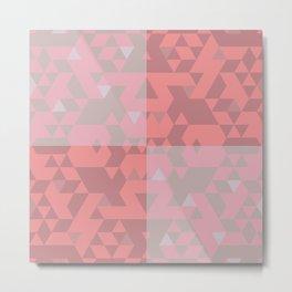 Pink triangles. Metal Print