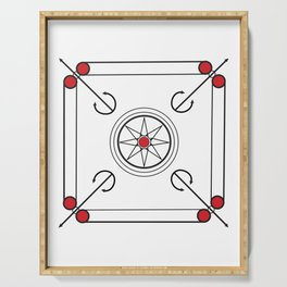 Carrom Board Serving Tray