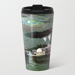 Race Of The Steamers Robert E. Lee and Natchez Metal Travel Mug