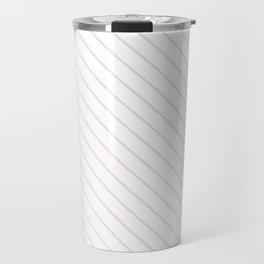 Bridal Blush Stripe Travel Mug