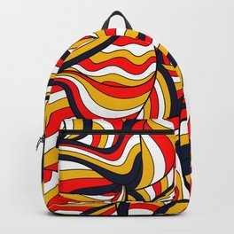 African Style No17, Desert Waves Backpack