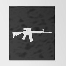 M4 Assault Rifle Throw Blanket