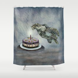 Turtle Birthday Shower Curtain