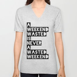 A Weekend Water (Black) Unisex V-Neck