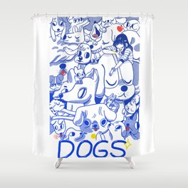 Dogs✧ Shower Curtain