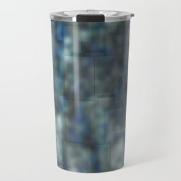 Abstract blue bluring pattern Travel Mug
