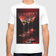 Red hot martinis. MEDIUM Mens Fitted Tee White
