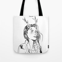 dancer Tote Bags featuring Dancer by Cassandra Jean