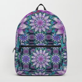 Embroidered purple & green Backpack