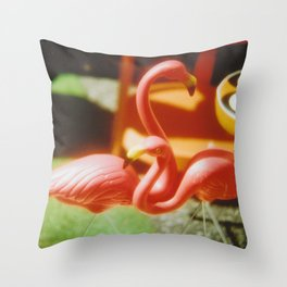 Flamingo duo Throw Pillow