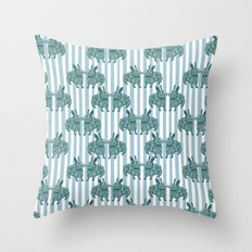 Bunny mad! Throw Pillow