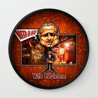 the godfather Wall Clocks featuring The Godfather concept! by Emanpris Artcore