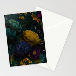 Before Midnight Blue Hour Vintage Flowers Garden Stationery Cards