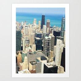 Chicago Buildings Color Photo Art Print