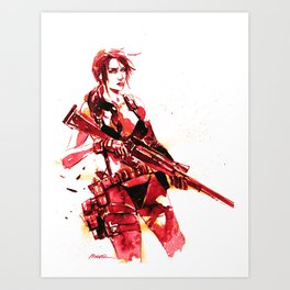 Silent Sniper  Art Print