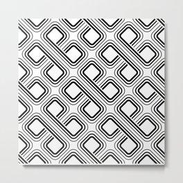 modern pattern geometri square Metal Print
