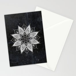 Flower Mandala in the Stars Stationery Cards