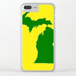Michigan Football Clear iPhone Case
