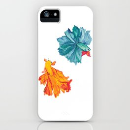 Siamese Fighter/Lover Fish iPhone Case