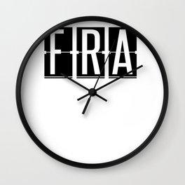 FRA - Frankfurt Airport - Germany Airport Code Gift or Souvenir  Wall Clock
