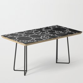 Modern Black and WHITE Textured Bubble Design Coffee Table