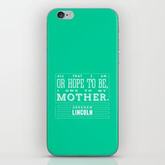 To My Mother iPhone & iPod Skin
